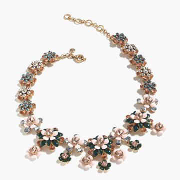 J.Crew Floral statement necklace