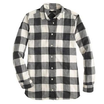 J.Crew Petite flannel shirt in buffalo check