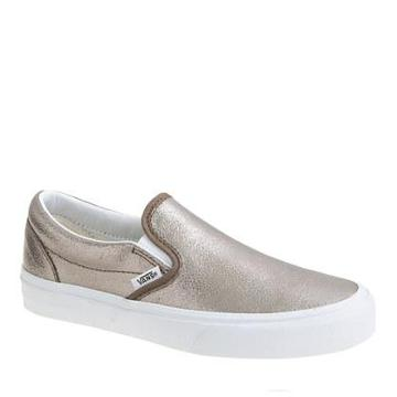 J.Crew Vans® metallic leatehr classic slip-on sneakers