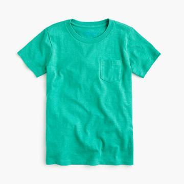 J.Crew Boys' pocket T-shirt in slub cotton