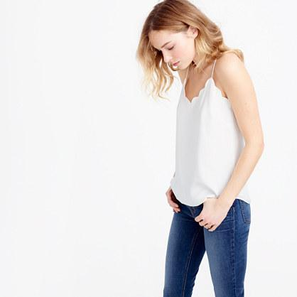 J.Crew Petite scalloped Carrie cami