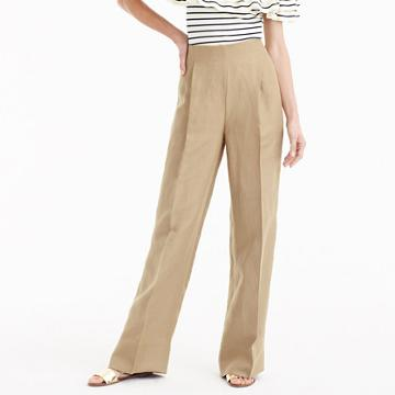 J.Crew Collection high-waisted linen-Tencel pant