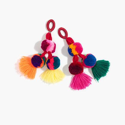 J.Crew Nannacay for J.Crew pom-pom earrings