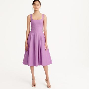 J.Crew Tall pleated A-line dress in faille