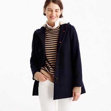 J.Crew Swingy peacoat in Italian wool melton