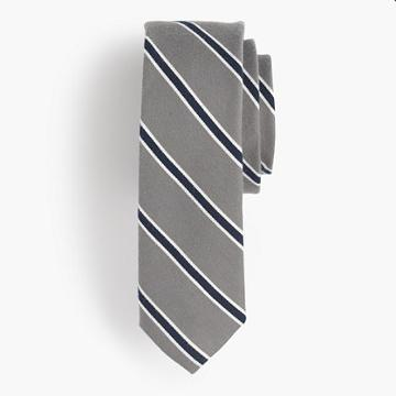 J.Crew Cotton-silk bow tie in grey stripe