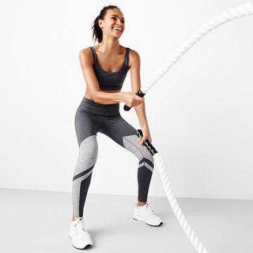J.Crew New Balance® for J.Crew performance leggings in striped colorblock