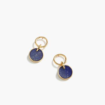 J.Crew Demi-fine 14k gold-plated lapis earrings