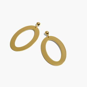 J.Crew Oval gold earrings