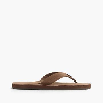 J.Crew Rainbow® leather flip-flops