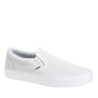 J.Crew Vans® perforated leather slip-on shoes