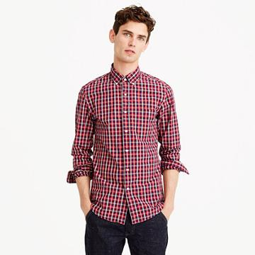 J.Crew Tall Secret Wash shirt in chimney tartan