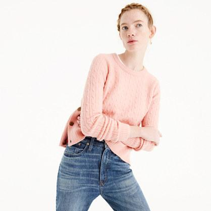 J.Crew Cableknit sweater with buttons