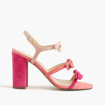 J.Crew Stella bow heels in fuschia