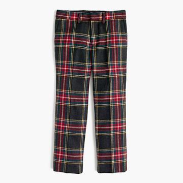 J.Crew Boys' Ludlow suit pants in Stewart plaid