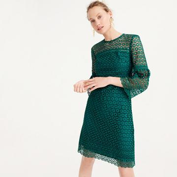 J.Crew Bell-sleeve daisylace dress