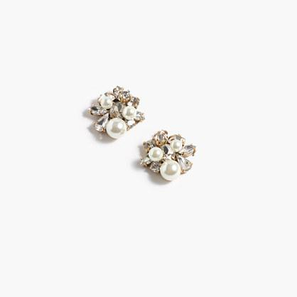 J.Crew Pearl and crystal earrings