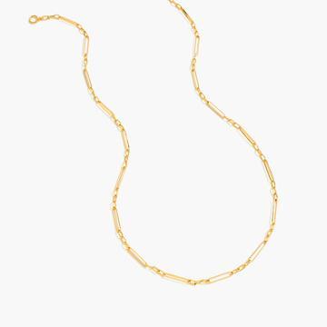 J.Crew Demi-fine 14k gold-plated long multi-link necklace