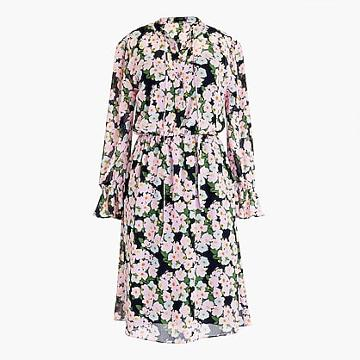 J.Crew Drapey tie-front dress in French floral