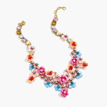 J.Crew Flower garden statement necklace
