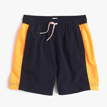 J.Crew Boys' colorblock swim trunk