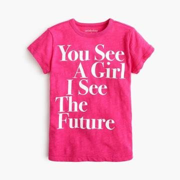 J.Crew Girls' prinkshop for crewcuts You see a girl T-shirt