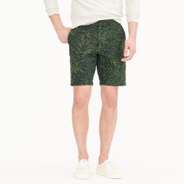 J.Crew 9 seersucker short in palm print