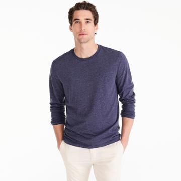 J.Crew J.Crew Mercantile Broken-in long-sleeve T-shirt in heather navy