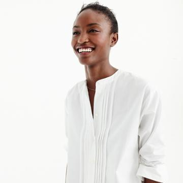J.Crew Thomas Mason for J.Crew collarless tuxedo shirt