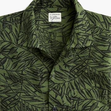J.Crew Short-sleeve seersucker shirt in leaf print