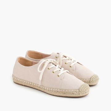 J.Crew Lace-up espadrilles in blush