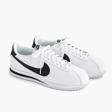 J.Crew Nike Cortez sneakers in leather