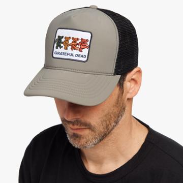James Perse Grateful Dead Bear Patch Trucker Hat