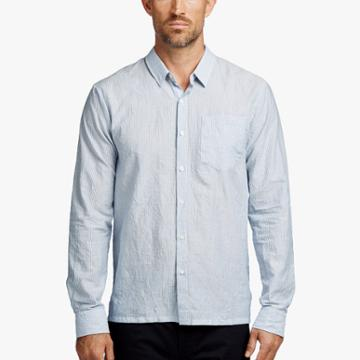 James Perse Micro Stripe Creased Shirt