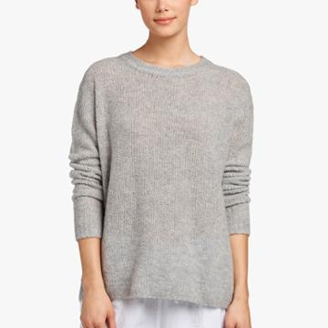 James Perse Oversized Cashmere Boucle Sweater