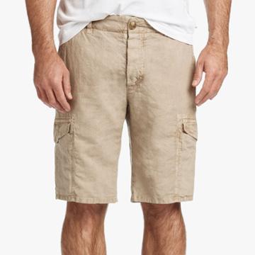James Perse Linen Cotton Utility Short