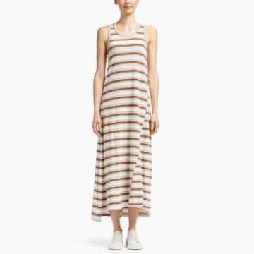 James Perse Revival Cotton Striped Dress