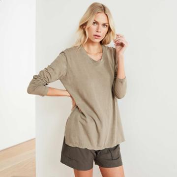 James Perse Clear Jersey Long Sleeve Tee