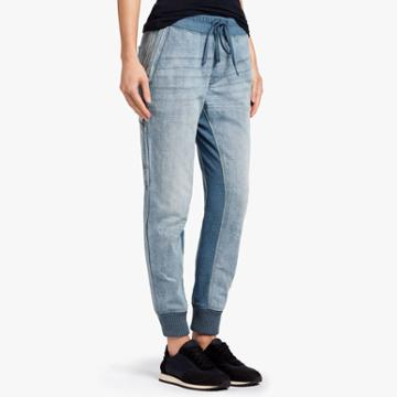 James Perse Mixed Media Denim Pant