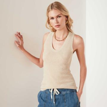 James Perse Cotton Linen Sweater Tank