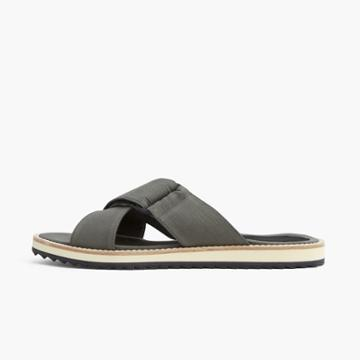 James Perse Salina Cross Front Cotton Slide - Womens