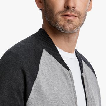 James Perse Cotton Cashmere Track Jacket