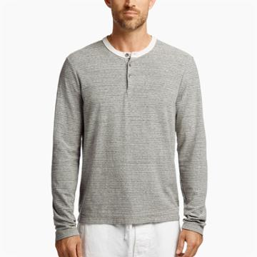 James Perse Micro Striped Jersey Henley