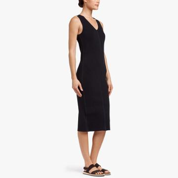 James Perse Contrast Binding Ribbed Dress