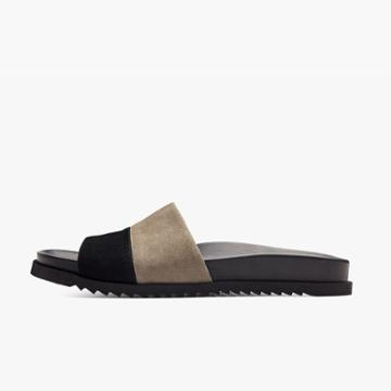 James Perse Calabasas Colorblock Slide - Womens