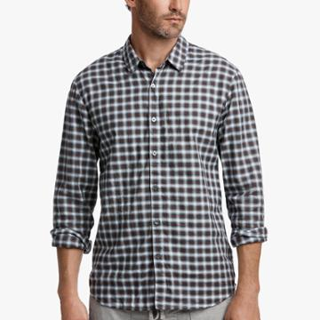 James Perse Vintage Twill Plaid Shirt