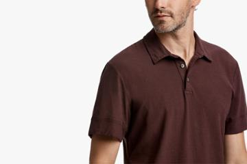 James Perse High Twist Jersey Polo