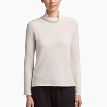James Perse Felted Cashmere Turtleneck Sweater