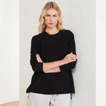 James Perse Cotton Linen Oversized Sweater