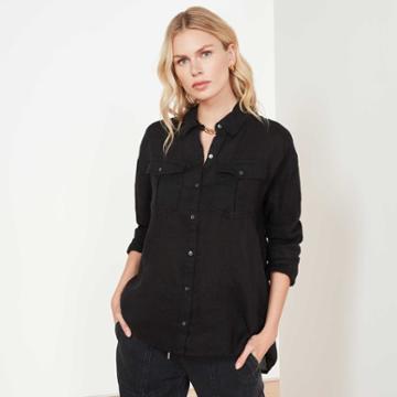 James Perse Casual Linen Shirt